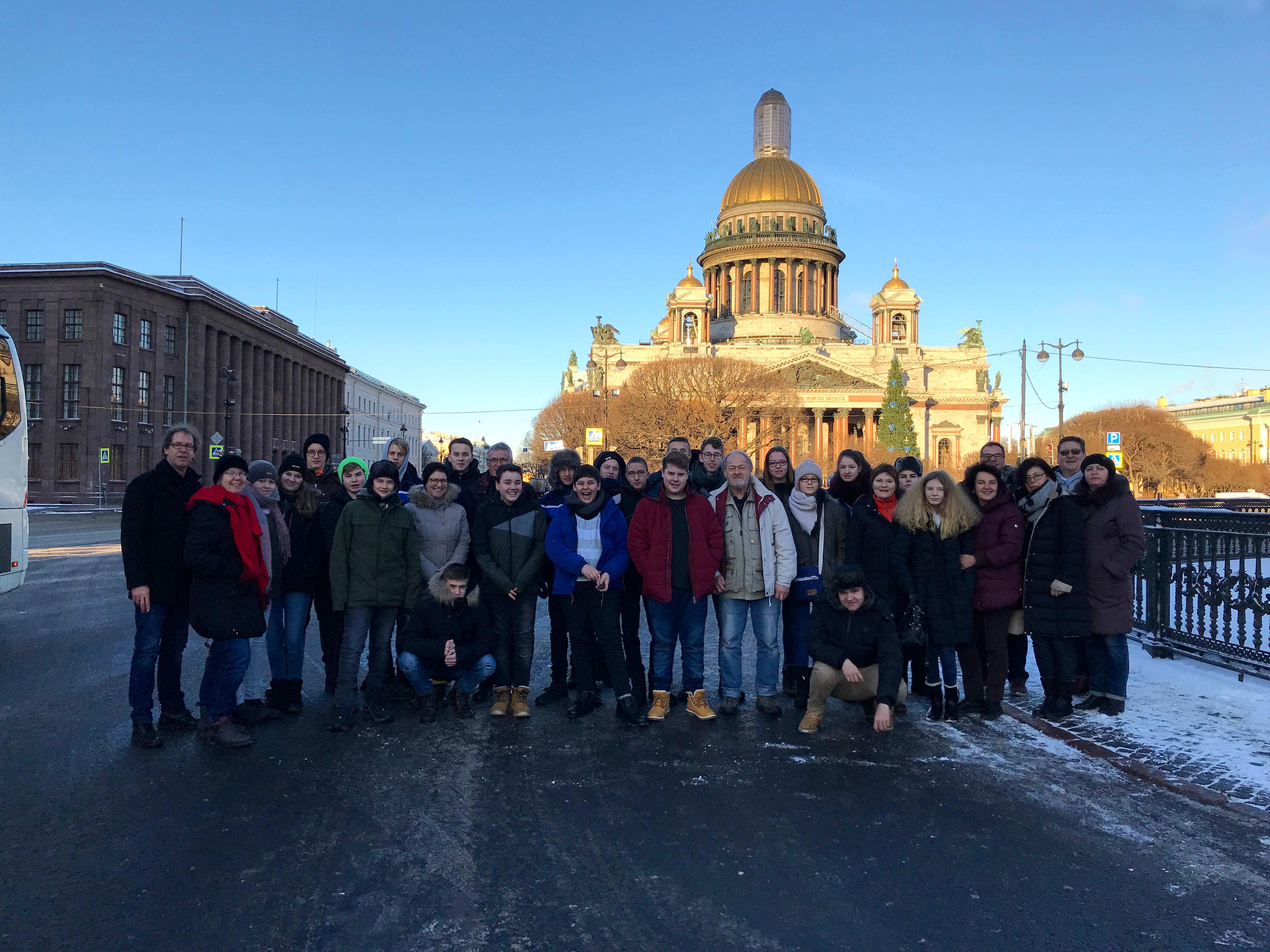 Deutsche Austauschschüler in Russland