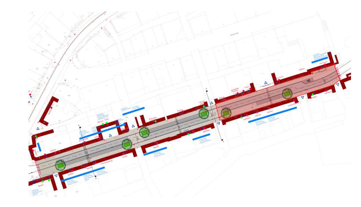 Hochstraße; Bauabschnitt Ellers Ecke Richtung Marktplatz; Abschluss Anfang April 2018