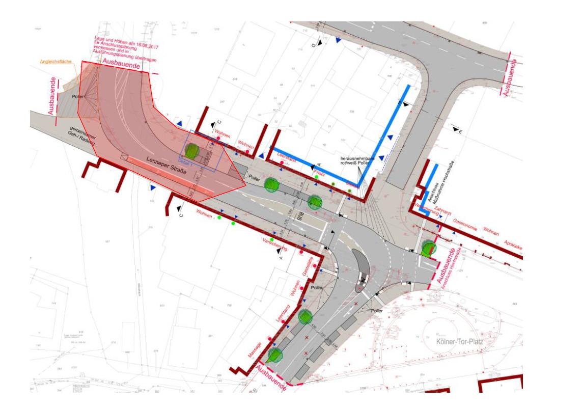 Stadteingang West: Bauabschnitt Kölner-Tor-Platz; Baubeginn Juni/Juli 2018