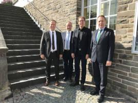 von links: Klaus Grootens, Dirk Kremer, Michael von Rekowski, Jochen Hagt