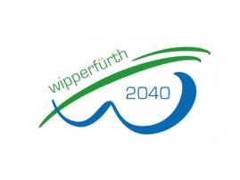 Logo ISEK Wipperfürth 2040, blaue und grüne Schrift