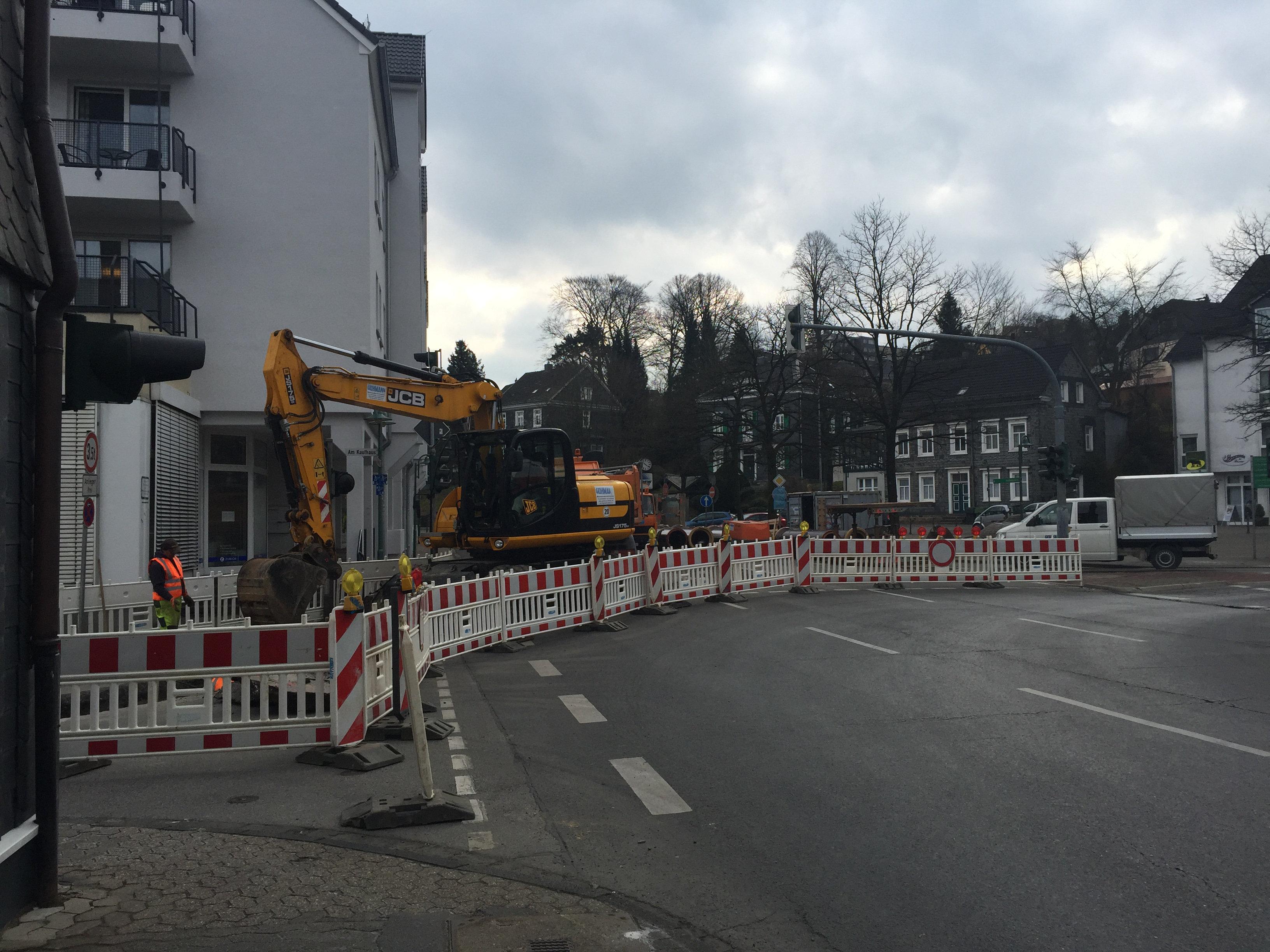 Baustelle am Kölner-Tor-Platz Richtung Hochstraße