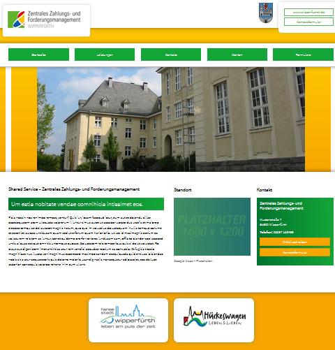 Screenshot der Startseite des Zentralen Zahlungs- und Forderungsmanagement
